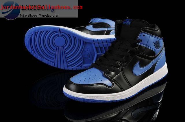 Air Jordan 1 Retro Black Blue White shoes