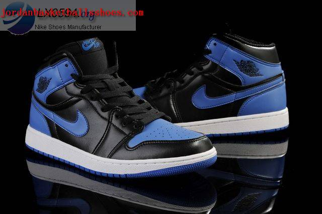 jordan retro 1 black and blue