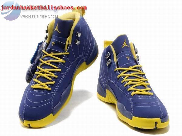 brand new dc6d4 4fca9 Sale Air Jordans 12 Retro blue yellow Shoes On 1TOPJORDAN ...