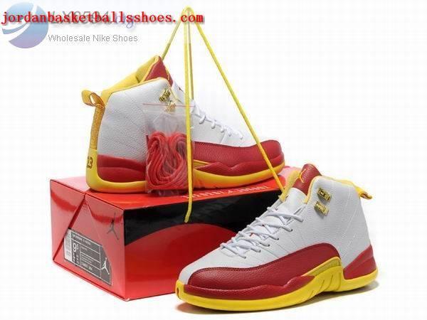 ed522d3a01 Sale Air Jordans 12 Retro white red yellow Shoes On 1TOPJORDAN [NAJB ...