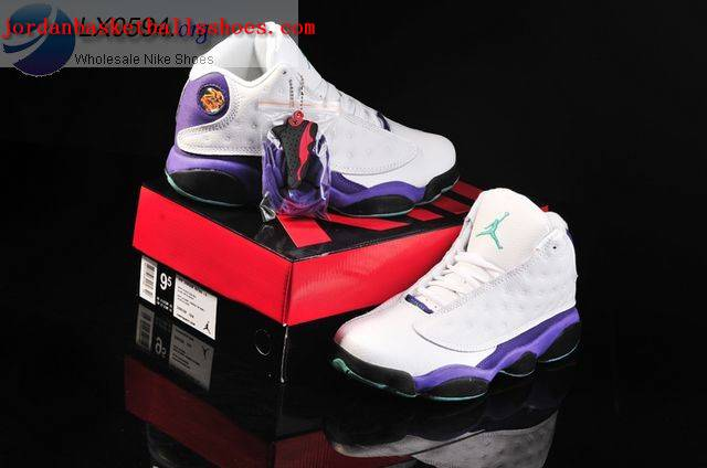 jordan 13 white purple