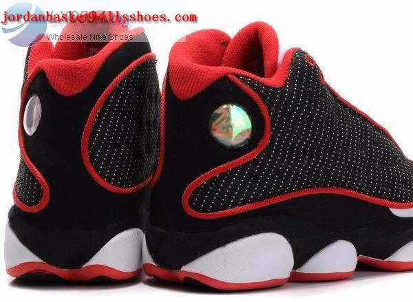 jordan 13 black white red