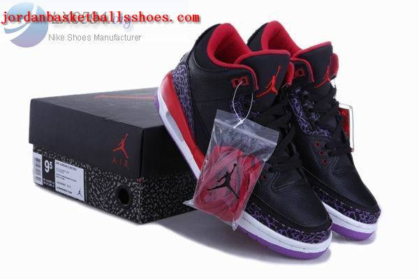jordan 3 black red purple