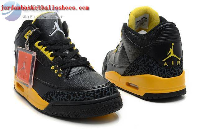 jordan 3 black yellow