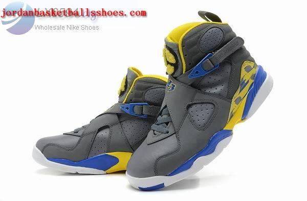 Sale Air Jordans 8 Retro grey blue