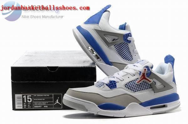 the latest d1b5e 905e2 Sale Air Jordans 4 Big Size US 14 15 white grey blue Shoes On 1TOPJORDAN