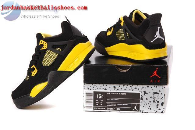 a71f50f7574b3e Sale Air Jordans 4 Kids black and yellow Shoes On 1TOPJORDAN  NAJB ...