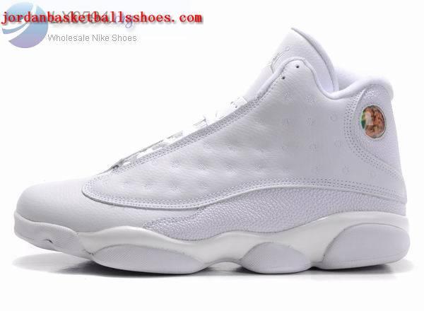 all white air jordan 13 for sale