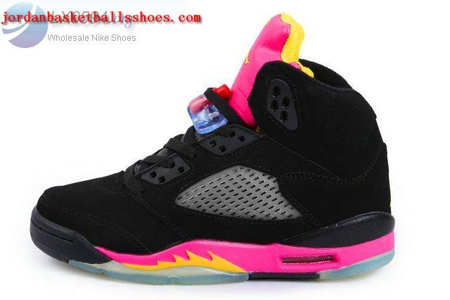 a217be6543b Sale Air Jordans 5 Women black and pink Shoes On 1TOPJORDAN  NAJB-05021