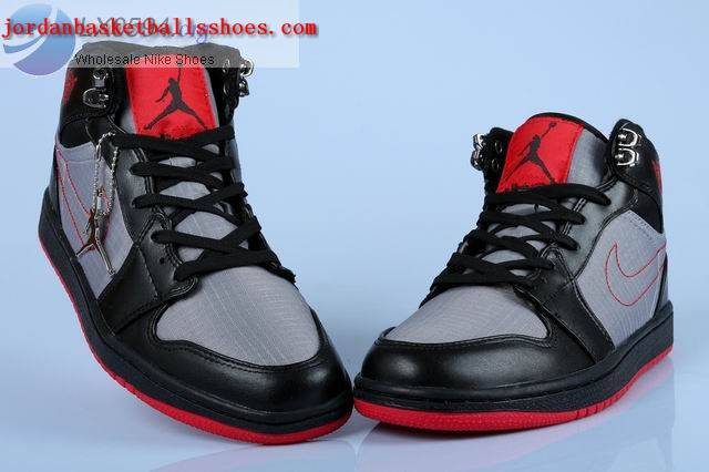 c8a4c5fdf5504 Sale Air Jordans 1 Trek Womens Black Grey Red Shoes On 1TOPJORDAN ...